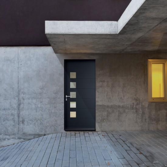 """Porte d'entrée aluminium """"Technal"""""""