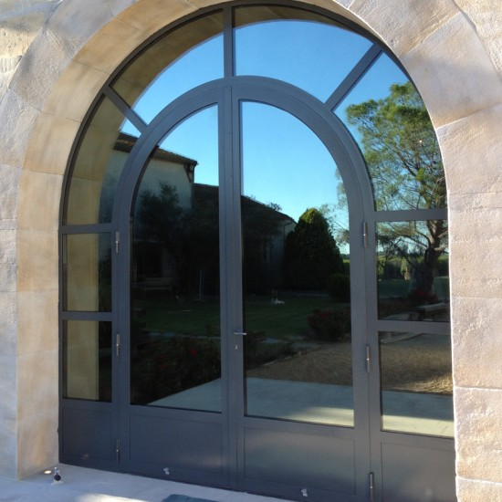 Double porte cintrée en Aluminium