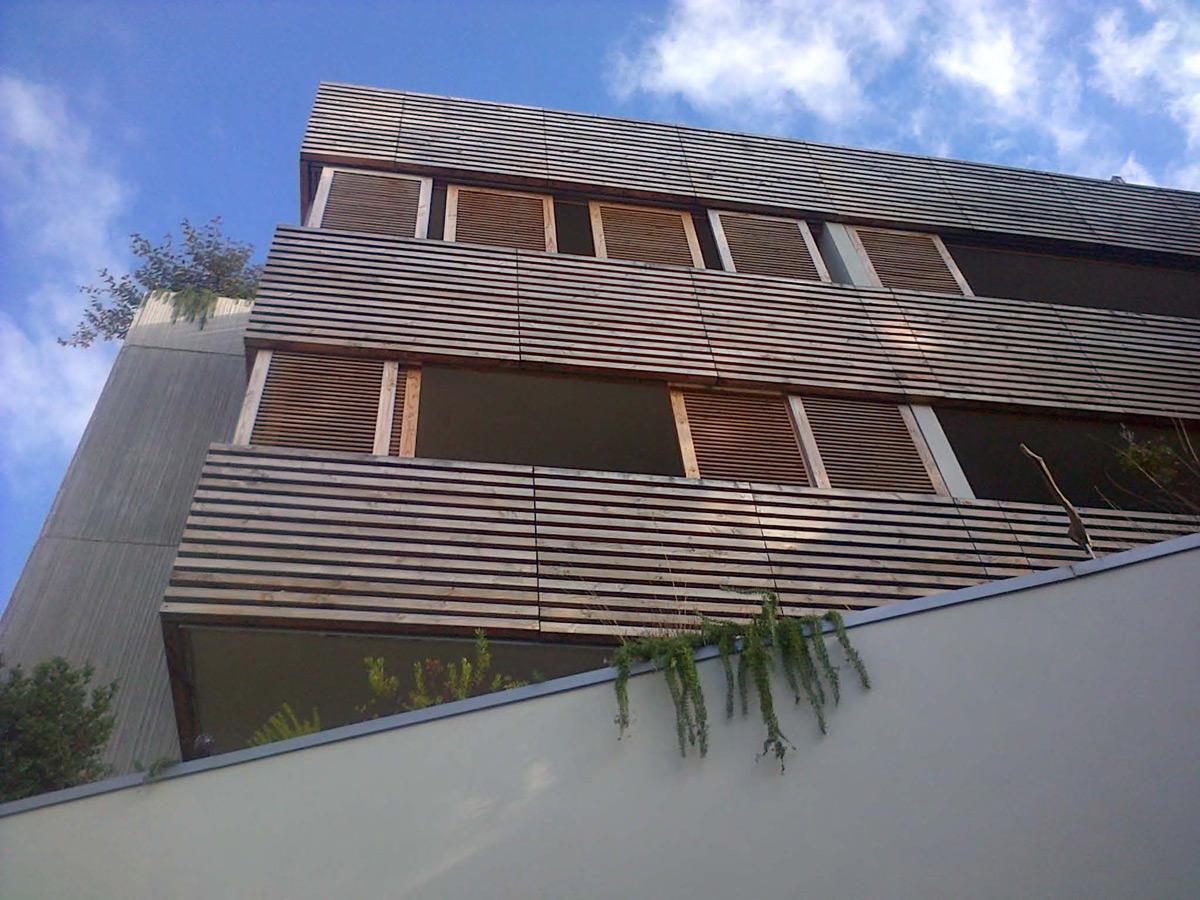 Habillage bois extérieur