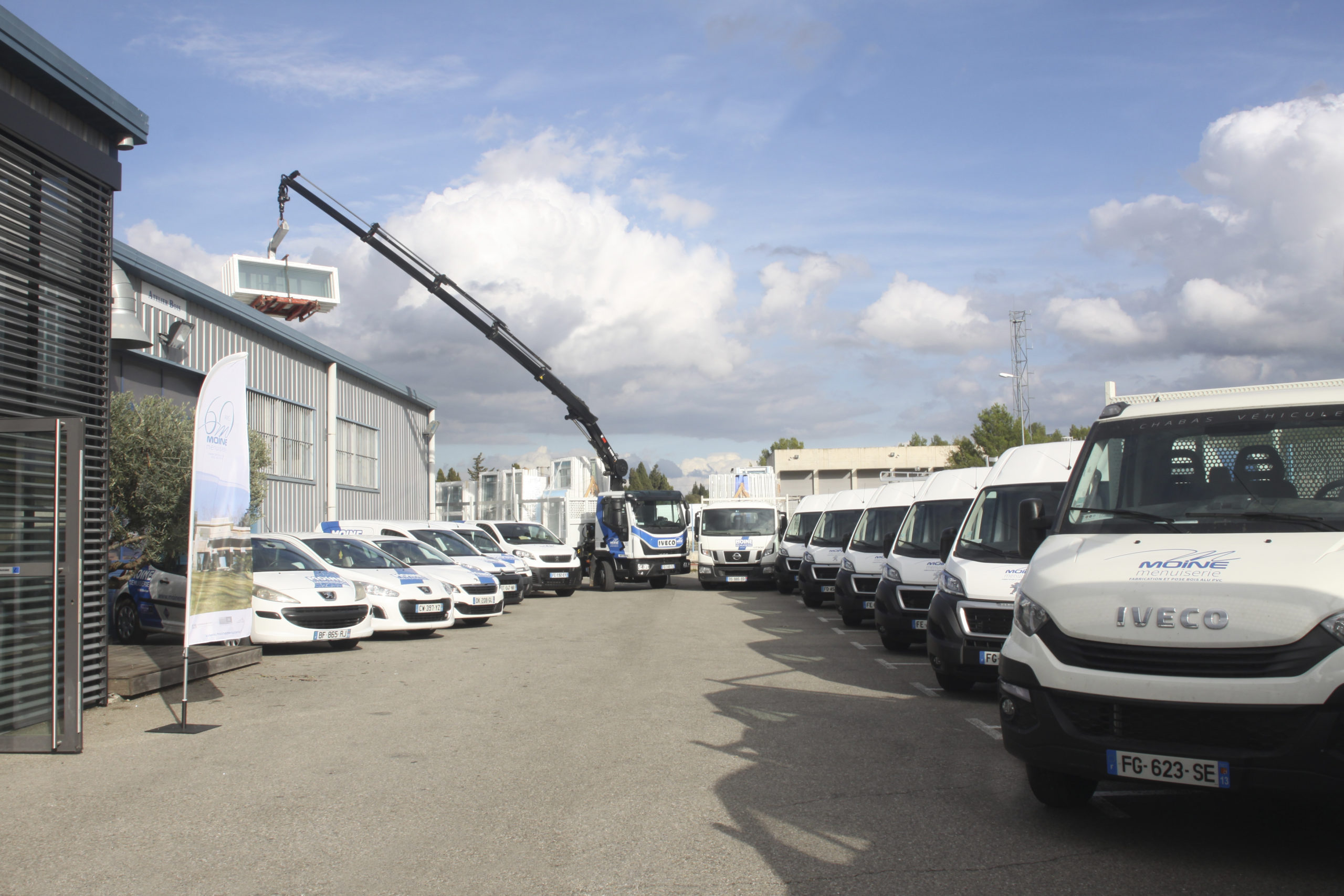 Flotte de véhicules Menuiserie MOINE