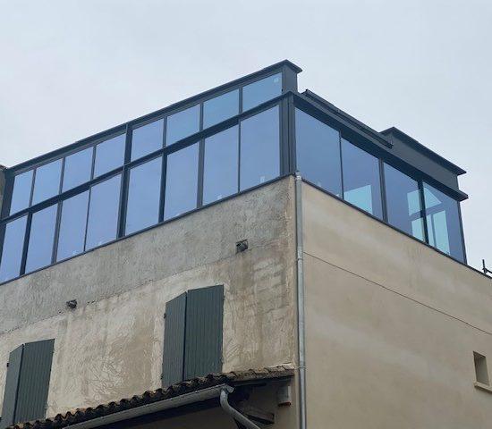 Veranda toit retractable St Andiol