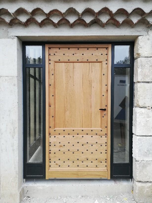 Porte d'entrée Bois et Alu